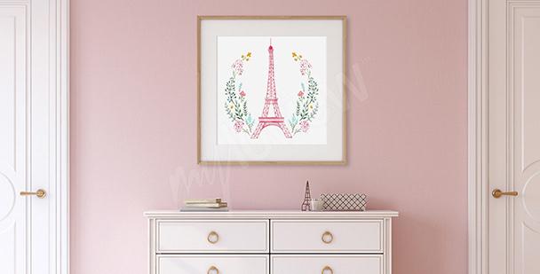 Póster para el vestíbulo Torre Eiffel