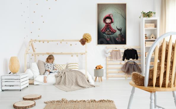 Póster para la habitación de una niña Caperucita roja