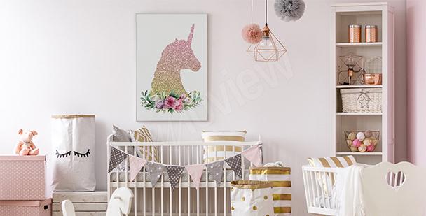 Póster para niña: unicornio