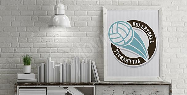 Póster pelota de voleibol