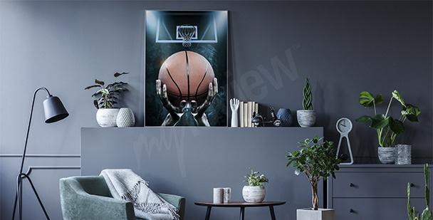 Póster peloto de baloncesto