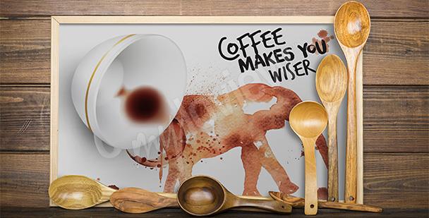 Póster pintura con café