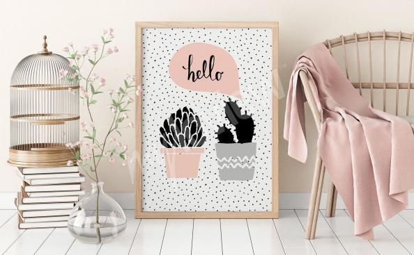 Poster plantas estilo escandinavo