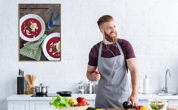 Póster platillo para cocina