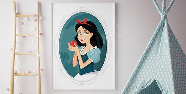 Póster princesa con manzana