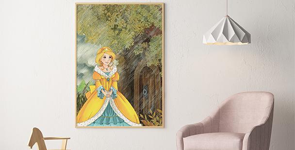 Póster princesa en el bosque