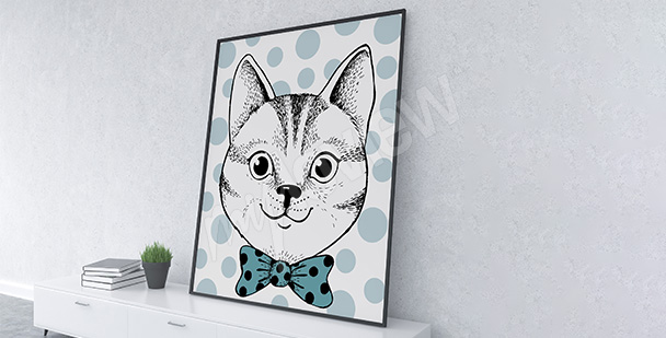 Póster retrato de gato