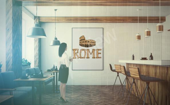 Póster Roma para restaurante