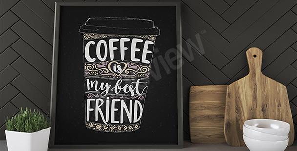 Póster taza de café