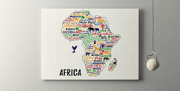 Póster tipográfico África