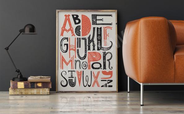 Póster tipográfico alfabeto