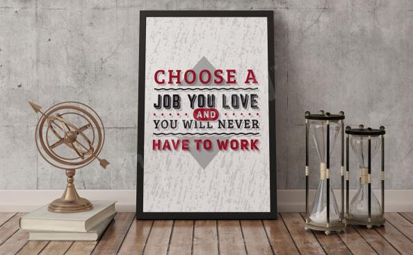 Poster tipográfico de la motivación