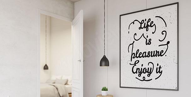 Póster tipográfico minimalista
