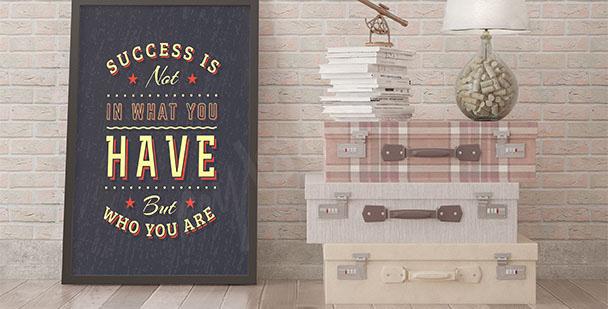 Póster tipográfico sobre el éxito