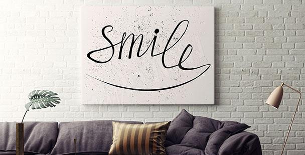 Póster tipográfico sonríe