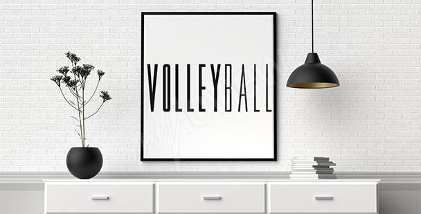Póster tipográfico voleibol