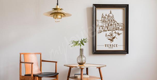Póster Venecia para la sala de estar