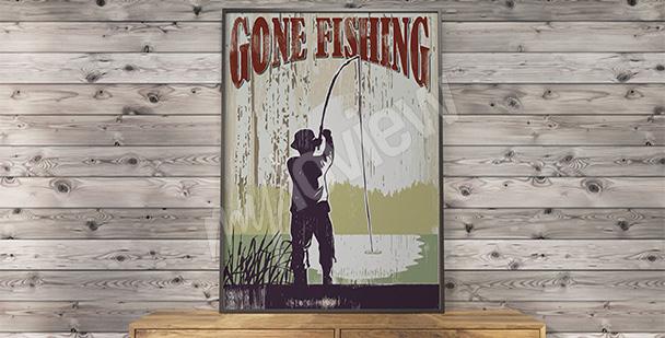 Póster vintage pesca
