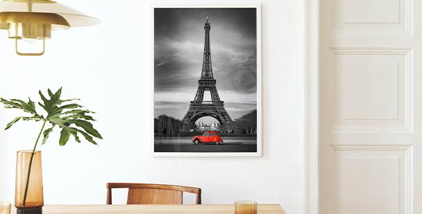 Póster vista a la Torre Eiffel