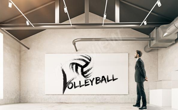 Póster voleibol en blanco y negro