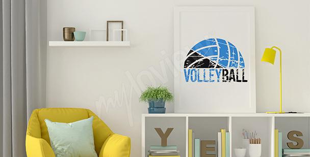 Póster voleibol para la sala de estar