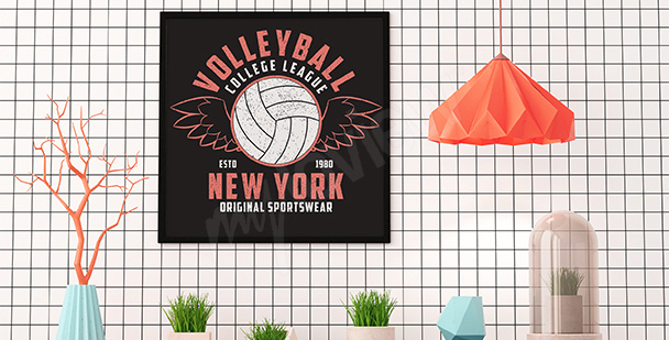 Póster voleibol retro