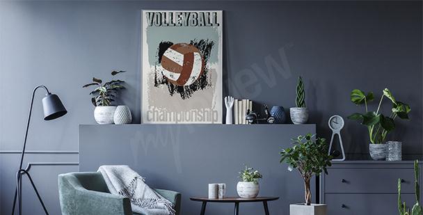 Póster voleibol vintage