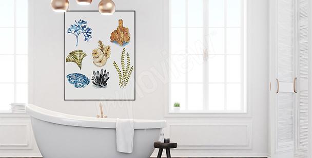 Posters corales para el baño