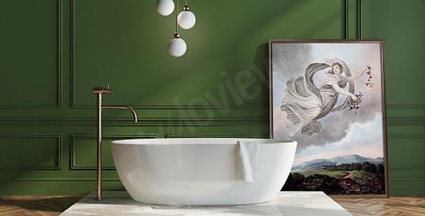 Retro póster para baño