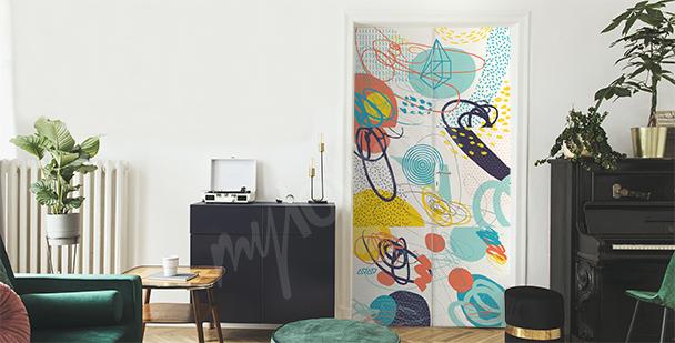 Vinilo abstracto colorido