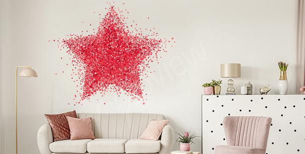 Vinilo abstracto estrella