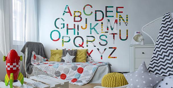 Vinilo alfabeto colorido