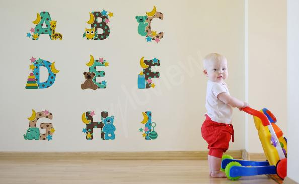 Vinilo alfabeto con animales