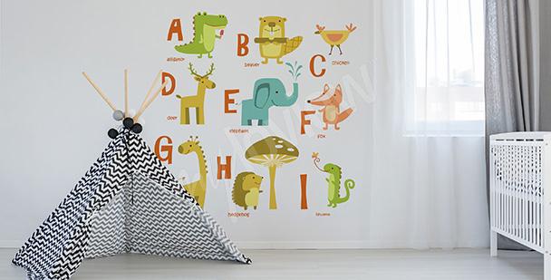 Vinilo alfabeto palabras en inglés