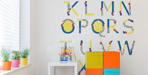 Vinilo alfabeto para de un niño