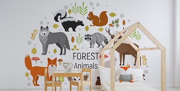 Vinilo animales del bosque