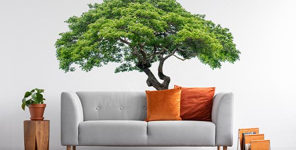 Vinilo árbol con hojas
