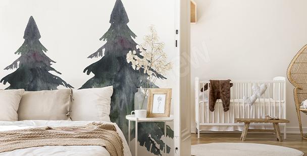 Vinilo árbol para dormitorio