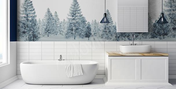 Vinilo árboles para baño