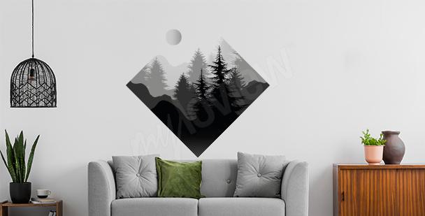 Vinilo bosque con forma geométrica
