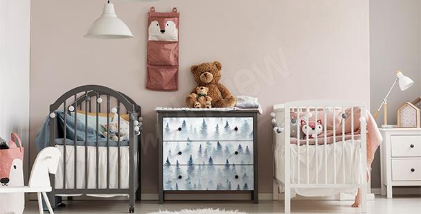 Vinilo bosque para habitación de niño