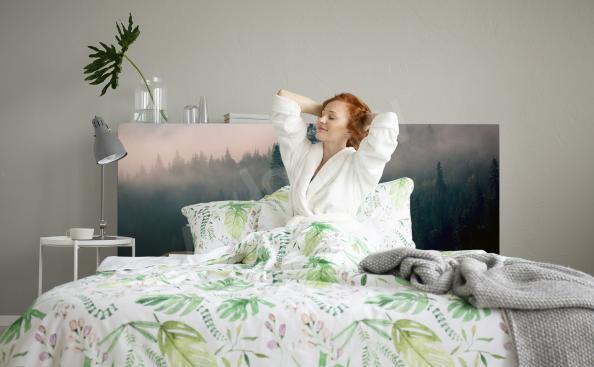 Vinilo bosque por la mañana para dormitorio