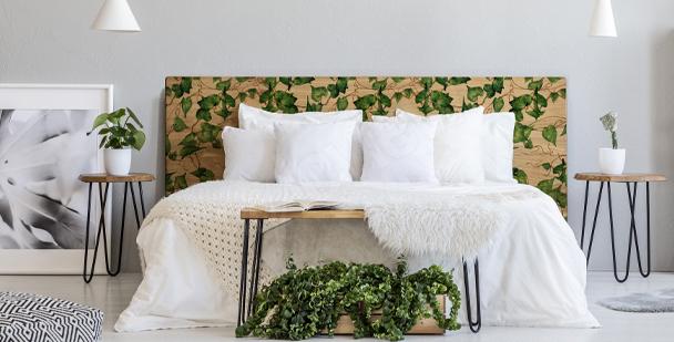 Vinilo botánico para dormitorio