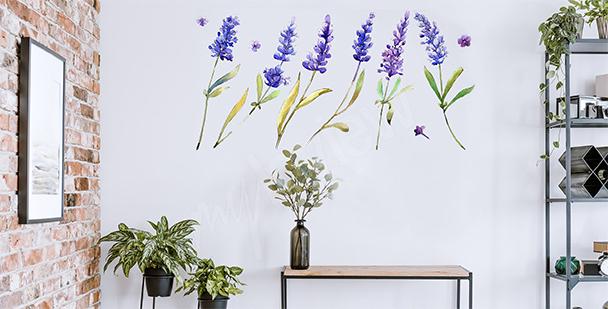 Vinilo botánico para vestíbulo