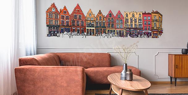 Vinilo casas coloridas en Bélgica