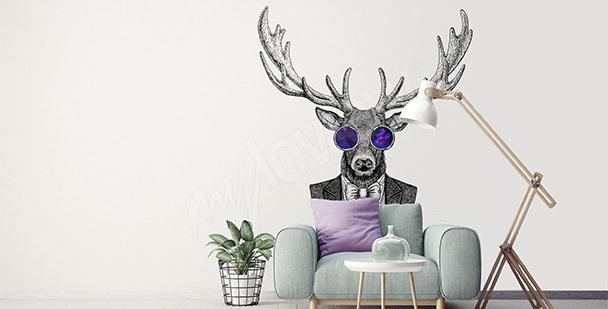 Vinilo ciervo para una sala de estar
