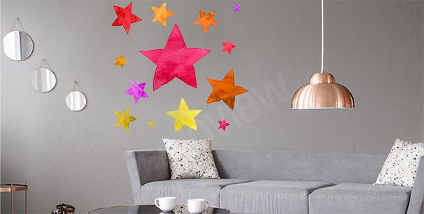 Vinilo colorido estrellas