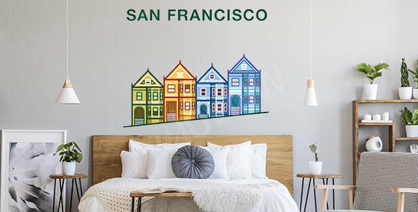Vinilo colorido San Francisco