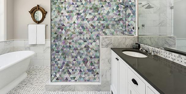 Vinilo composición de un mosaica