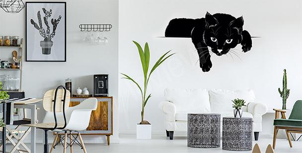 Vinilo con gato negro